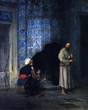 A Chat by the Fireside Arabien Jean Leon Gerome Ölgemälde