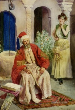 A Quiet Retreat Antonio Gargiullo Arabs Ölgemälde
