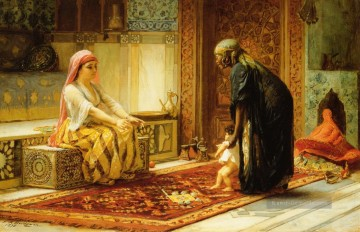 The First Steps Arabisch Frederick Arthur Bridgman Ölgemälde