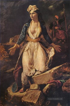 delacroix Greece on the Ruins of Missolonghi Arabs Ölgemälde