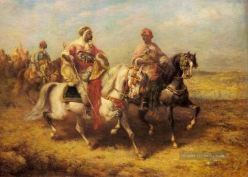Arab Chieftain And His Entourage Arabien Adolf Schreyer Ölgemälde