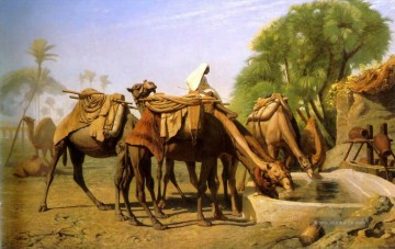 Camels at the Fountain Arabien Jean Leon Gerome Ölgemälde
