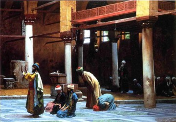 Prayer in the Mosque Arabien Jean Leon Gerome Ölgemälde