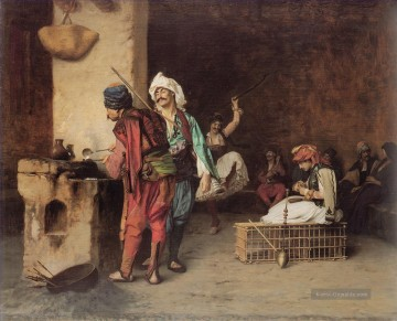 Gerome Ölbilder - Ein Cafe in Kairo Arabien Jean Leon Gerome