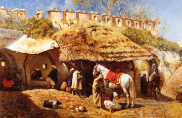 Blacksmith Shop at Tangiers Araber Edwin Lord Weeks Ölgemälde