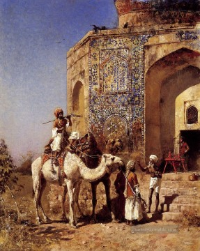 Old Blue Tiled Mosque Outside Of Delhi India Araber Edwin Lord Weeks Ölgemälde