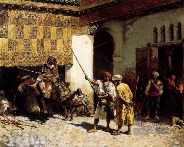 The Arabien Gunsmith Araber Edwin Lord Weeks Ölgemälde