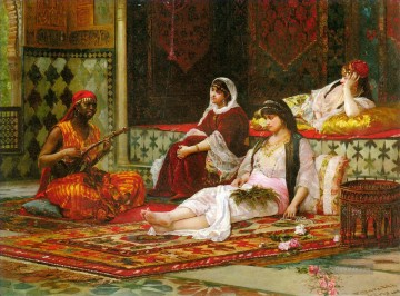 arab ladies in the harem Ölgemälde