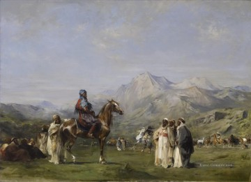 Eugene Fromentin An Encampment in the Atlas Berge Walters Arabs Ölgemälde