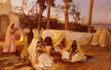 Women At The Cemetery Algiers Arabisch Frederick Arthur Bridgman Ölgemälde