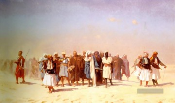 Egyptian Recruits crossing the Desert Arabien Jean Leon Gerome Ölgemälde