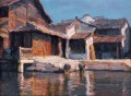 River Village Pier Chinese Chen Yifei