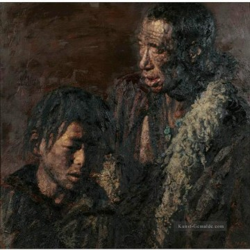 Chinesische Werke - Father and Son Chinese Chen Yifei