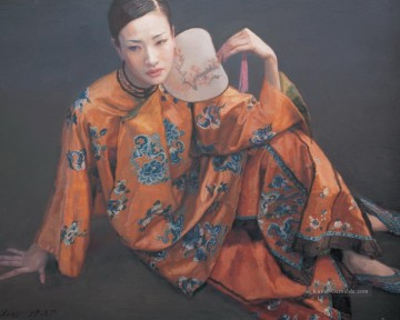 Chinesische Werke - Lady with Fan Chinese Chen Yifei