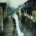 Water Straße in Ancient Town Chinese Chen Yifei