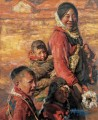 Mutter und Kinder 2 Chen Yifei Tibet