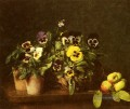 Still Life With Pansies maler Henri Fantin Latour floral