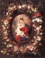 The Virgin and Child in a Garland of Barock Peter Paul Rubens floral
