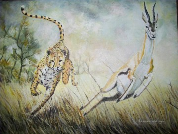 Jagd Werke - Leopard prey on deer cynegetics