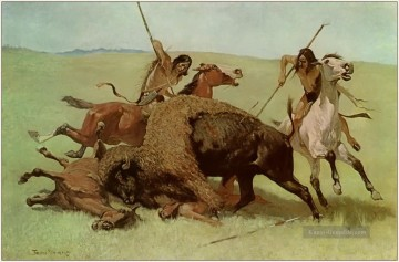 Jagd Werke - indians The Buffalo Hunt 1890