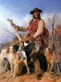 Richard Ansdell Gamekeeper with Hunde cynegetic