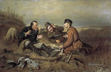 Jagd Werke - hunters at rest 1871