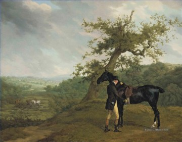 Jagd Werke - Jacques Laurent Agasse George Irving with his black hunter