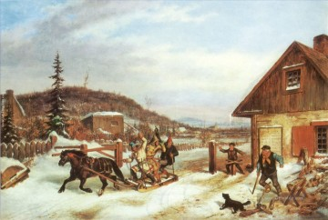 Jagd Werke - hunters back to village