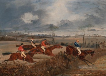 Jagd Werke - Henry Thomas Alken Scenes from a steeplechase Taking a Hedge cynegetic