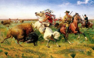 Jagd Werke - louis maurer the great royal buffalo hunt 1895
