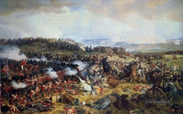 The Battle of Waterloo The British Squares Receiving the Charge of the French Cuirassiers by Henri Felix Emmanuel Philippoteaux Military War Ölgemälde