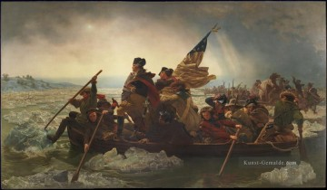 Washington Crossing the Delaware American Revolution Emanuel Leutze Leutze Militärkrieg Ölgemälde