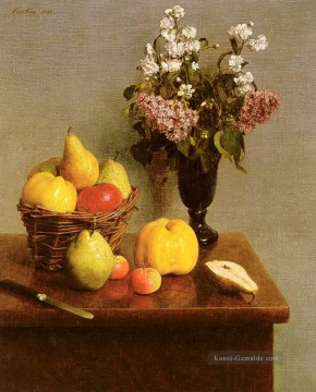 Klassik Blumen Werke - Still Life With Blumen And Fruit Henri Fantin Latour Blume
