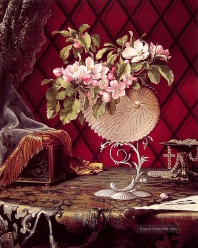 Klassik Blumen Werke - Still Life with Apple Blossoms in a Nautilus Shell Blume Martin Johnson Heade Klassische Blumen