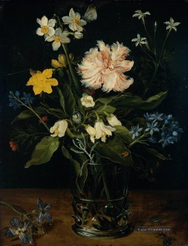 Klassik Blumen Werke - Still Life with Blumen in a Glass Flämisch Jan Brueghel the Elder Blume