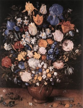 Klassik Blumen Werke - Bouquet In A Clay Vase Jan Brueghel the Elder Blume