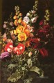Danish Still Life Hollyhocks Johan Laurentz Jensen Blume