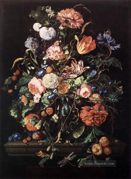 Klassik Blumen Werke - Blumen In Glass And Fruits Jan Davidsz de Heem Blume