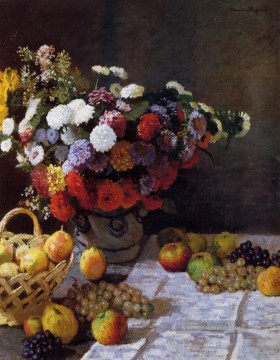 Klassik Blumen Werke - Blumen and Fruit Claude Monet Blume