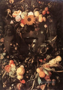 Klassik Blumen Werke - Fruit And Still Life Jan Davidsz de Heem Blume