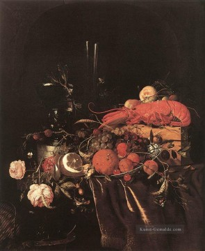 Klassik Blumen Werke - Still Life With Fruit Blumen Glasses And Lobster Jan Davidsz de Heem Blume