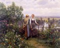 Maria and Madeleine on the Terrace Landfrau Daniel Ridgway Knight Blumen