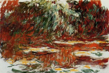 Lily Kunst - The Water Lily Pond 1919 Claude Monet impressionistische Blumen