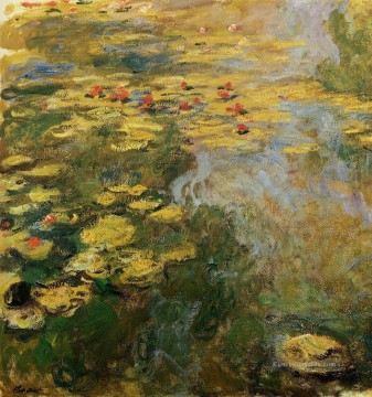 The Water Lily Pond linke Seite Claude Monet Blumen impressionistische
