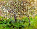 Apple Trees in Bloom at Giverny Claude Monet impressionistische Blumen
