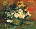 Still Life with Roses and Sunflowers Vincent van Gogh impressionistische Blumen