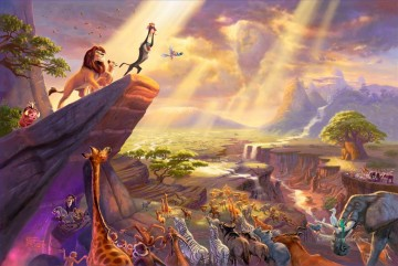 Thomas Kinkade des lion king Kinder Ölgemälde