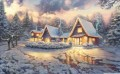 Weihnachten Lodge Thomas Kinkade kinder