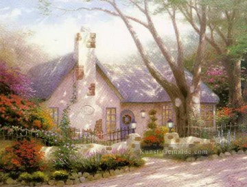 Morning Glory Cottage Thomas Kinkade kinder Ölgemälde