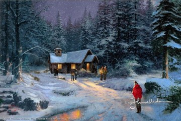 Christmas Miracle Thomas Kinkade kinder Ölgemälde